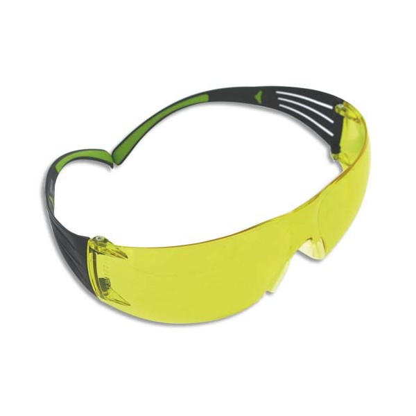 3M Lunette de Protection Secure Fit 400 Jaune - Anti-rayure et Anti-buée SF403AF (photo)