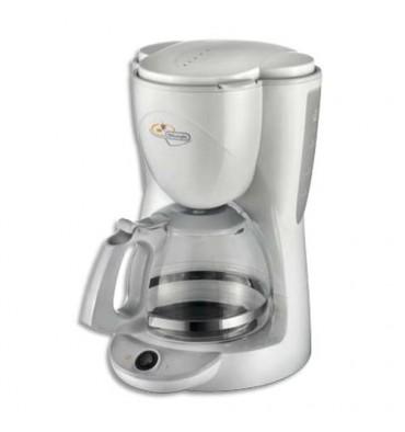 DELONGHI Cafetiére à filtre blanche 1000W, 10 tasses, verseuse verre, anti-gouttes 26 x 35 x 21 cm