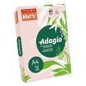 REY BY PAPYRUS Ramette de 500 feuilles papier couleur ADAGIO copieur, laser, jet d'encre 80g format A4 rose