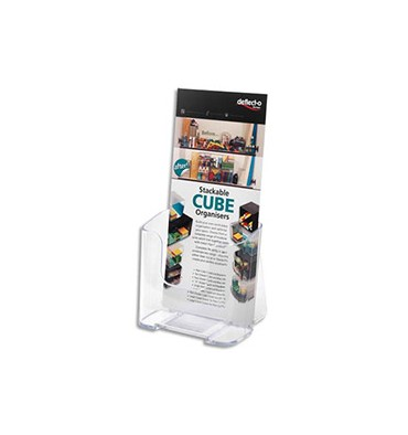 DEFLECTO Porte-brochure A4 vertical une case 1/3 A4
