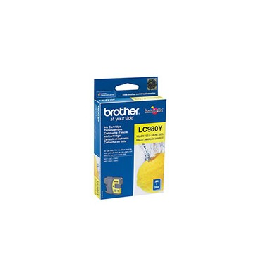 BROTHER Cartouche jet d'encre jaune LC980Y