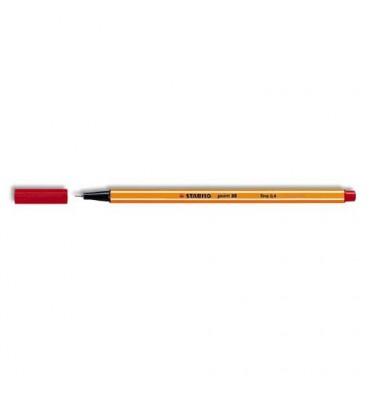 STABILO Stylo feutre Point 88 rouge, pointe fine 88/40