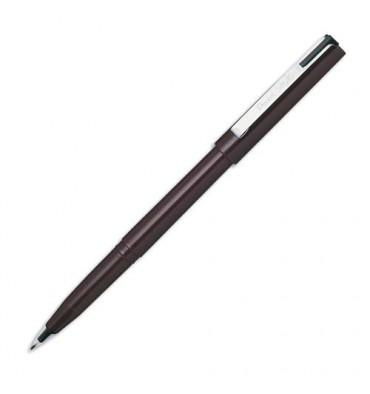 PENTEL Stylo feutre à plume encre noire corps noir largeur de trait 0,3 mm JM 20