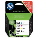 HP Cartouche jet d'encre Noir, cyan, magenta, jaune 364