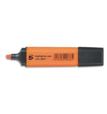 5 ETOILES Surligneur pointe biseautée coloris orange