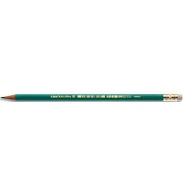 BIC Crayon graphite en résine de synthèsse tête gomme mine HB CONTE ECOLUTION