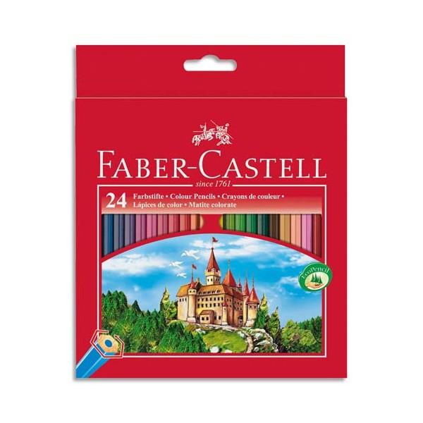 faber castell etui 24 crayons de couleur gamme ch teau. Black Bedroom Furniture Sets. Home Design Ideas