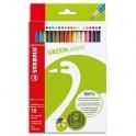 STABILO Etui 18 crayons de couleur GREENColors. Bois FSC, finition vernis mat. Coloris assortis