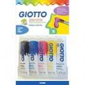 GIOTTO Blister de 5 tubes de gouache 10 ml, coloris assortis primaires