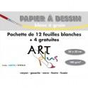ARTPLUS BY ARTLINE Pochette de 12 feuilles +4 gratuites dessin 180g format A4+
