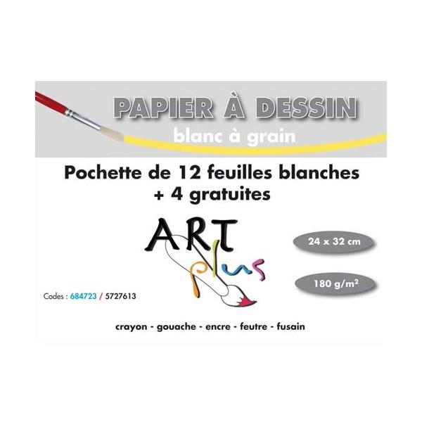 ARTPLUS BY ARTLINE Pochette de 12 feuilles +4 gratuites dessin 180g format A4+ (photo)