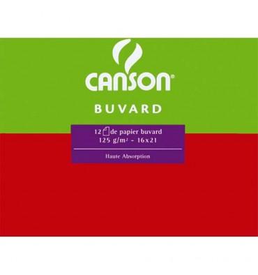 CANSON 25 feuilles de papier buvard 250g 50 x 65 cm blanc