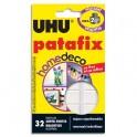 UHU Etui de 32 pastilles PATAFIX blanche Home Déco résistance 2kg