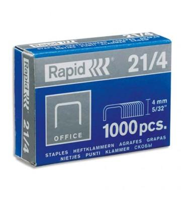 RAPID Agrafes Nº21/4 galvanisés en boîte de 1000