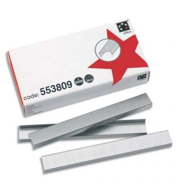 5 ETOILES Agrafes N°26/6 galvanisées ETOILE en boîte de 5000