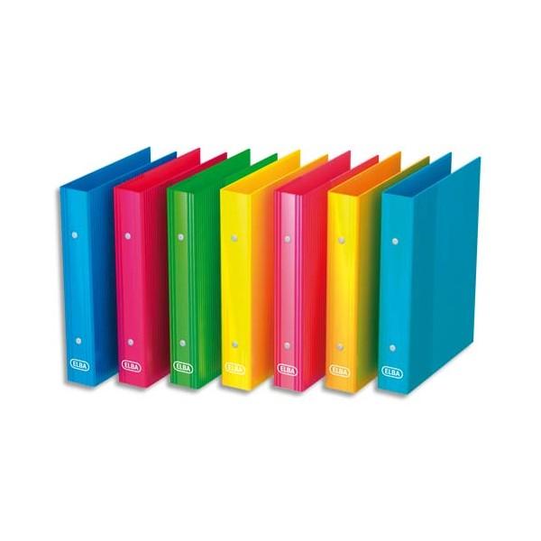 elba classeur 2 anneaux school life carton a5 dos 3 5 cm assortis. Black Bedroom Furniture Sets. Home Design Ideas