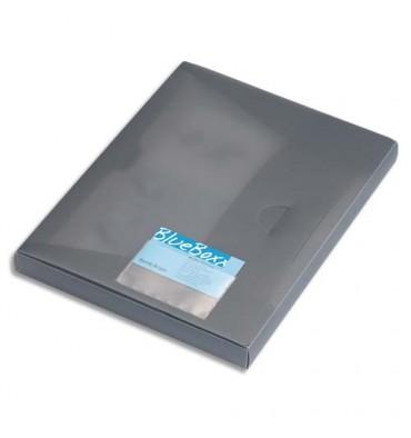 DURABLE Sachet 10 porte-cartes de visite adhésifs, en polypropylène, 94 x 63 mm, ouverture grand côté, transparent