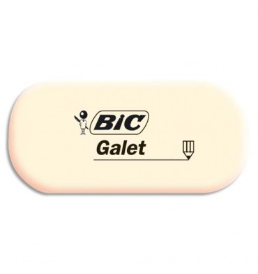 BIC Gomme blanche caoutchouc ovale GALET petit modèle