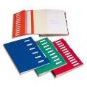 EMEY Trieur EMEY JUNIOR en carte avec système clip, 6 compartiments. Coloris rouge