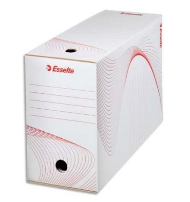 ESSELTE Boîtes à archives, dos de 10 cm, en carton ondulé kraft blanc, conditionnement par cerclage