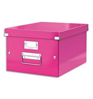 LEITZ Boîte CLICK & STORE M-Box. Format A4 - Coloris rose WOW
