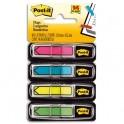 POST-IT Lot 4 cartes pour index forme flèche coloris assortis vifs 1,2 x 4,4 cm