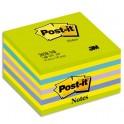 POST-IT Bloc cube NEON 7,6 x 7,6 cm 450 feuilles coloris assortis Reves