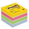 POST-IT Mini bloc cube 400 feuilles 5,1 x 5,1 cm couleur assortis Energie