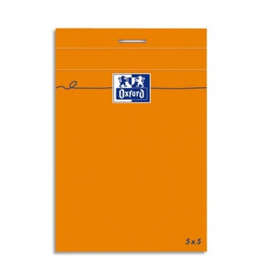 OXFORD Bloc IDEA160 pages non perforées 8,5x12 cm 80g, 5x5 , blanc