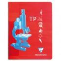 CLAIREFONTAINE Cahier travaux pratiques piqûre 40 pages Seyès + 40 pages unies 17 x 22 cm. Couverture carte