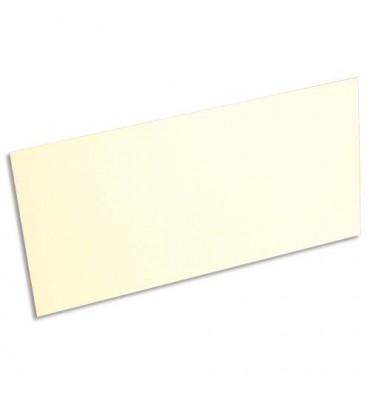 CLAIREFONTAINE Paquet de 25 cartes 210g POLLEN 10,6 x 21,3cm. Coloris ivoire
