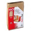 GPV Paquet de 50 pochettes kraft brun auto-adhésives, format C4 229 x 324 mm soufflet 30 mm 120g