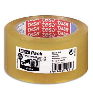 TESA Ruban adhésif d'emballage polypropylène qualité supérieure 45 microns H50 mm x L66 mètres transparent
