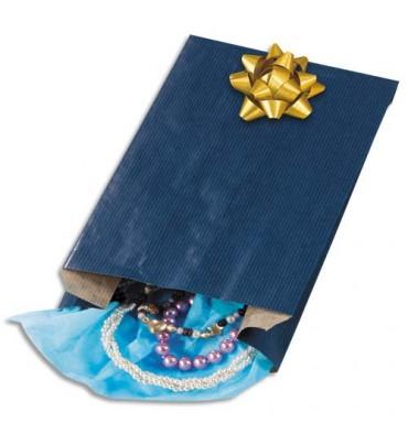 EMBALLAGE Paquet de 250 sachets kraft bleu 15 x 25 x 7 cm