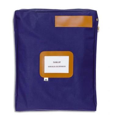 ALBA Pochette navette bleue en PVC à soufflet dimensions : 42 x 32 x 5cm