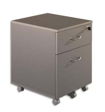 SIMMOB Caisson mobile 2 tiroirs alu dont 1 pour dossiers suspendus WICMA302AL