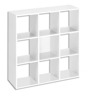MT INTERNATIONAL Bibliothèque multi-cases 9 cases MT1 élégance coloris blanc - Dim : L107 x H107 x P33 cm