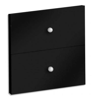 MT INTERNATIONAL Lot de 2 tiroirs + fonds pour multi-cases MT1 Elégance - L32,5 x H16,5 x P1,6 cm noir