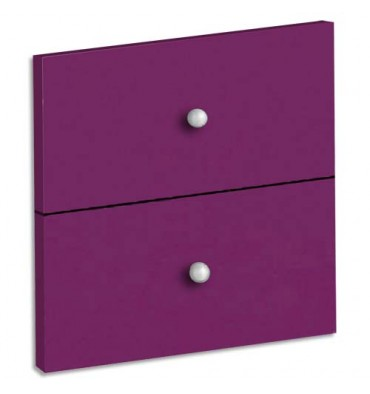 MT INTERNATIONAL Lot de 2 tiroirs + fonds pour multi-cases MT1 Elégance Dim L32,5 x H16,5 x P1,6 cm prune