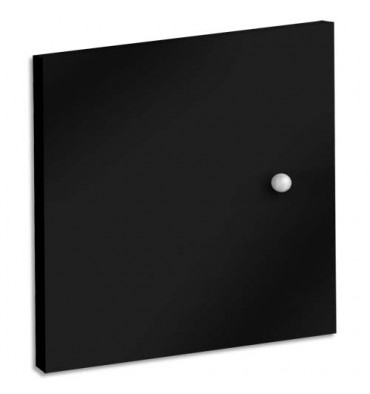 MT INTERNATIONAL Lot de 2 Portes + Fonds pour multi-cases MT1 Elégance - Dim. L32,5 x H33 x P1,6 cm noir