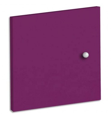 MT INTERNATIONAL Lot de 2 Portes + Fonds pour multi-cases MT1 Elégance - Dim. L32,5 x H33 x P1,6 cm prune