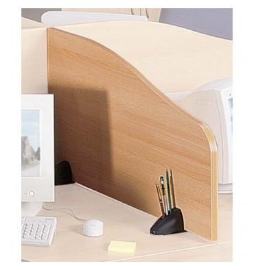 MT INTERNATIONAL Cloisonnette de séparation sur 2 sabots - Hêtre & Anthracite - L.100 x H.50/30 cm