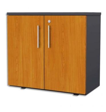 MT INTERNATIONAL Armoire basse Confort portes pleines 80x75x43 cm merisier