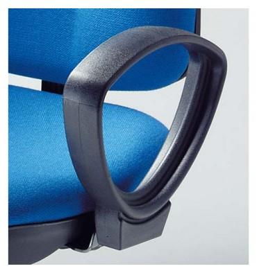 NOWY STYL Paire d'accoudoirs fixes pour siège Webstar, Hauteur 21 cm coloris noir