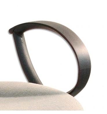 Paire d'accoudoirs fixes pour siège Dactylo Saturne et Ergo lign coloris noir