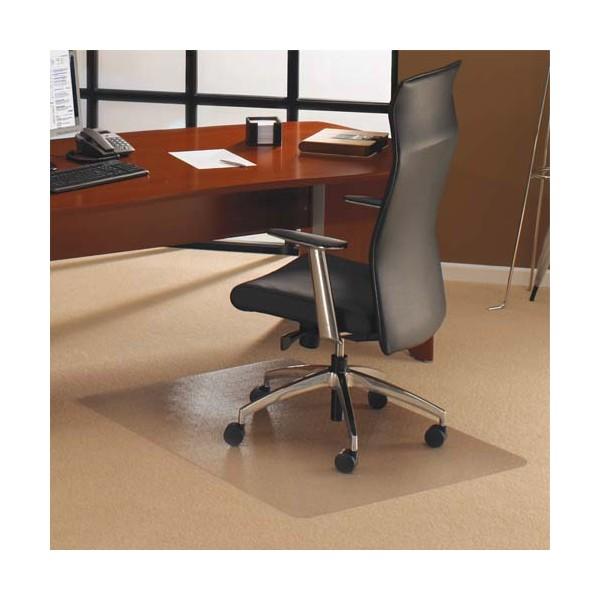 FLOORTEX Tapis protège-sol polycarbonate pour moquette rectangle 120 x 134 cm