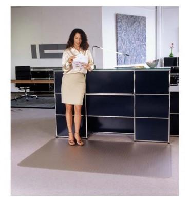 FLOORTEX Tapis anti-dérapant en polycarbonate pour sol dur 119 x 89 cm