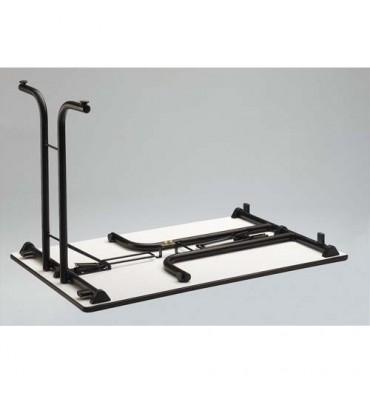 SODEMATUB Table polyvalente pliante rectangulaire 120 x 70 cm gris/gris