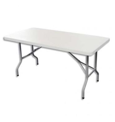 SODEMATUB Table pliante polyéthylène - 122 x 61 x 74 cm