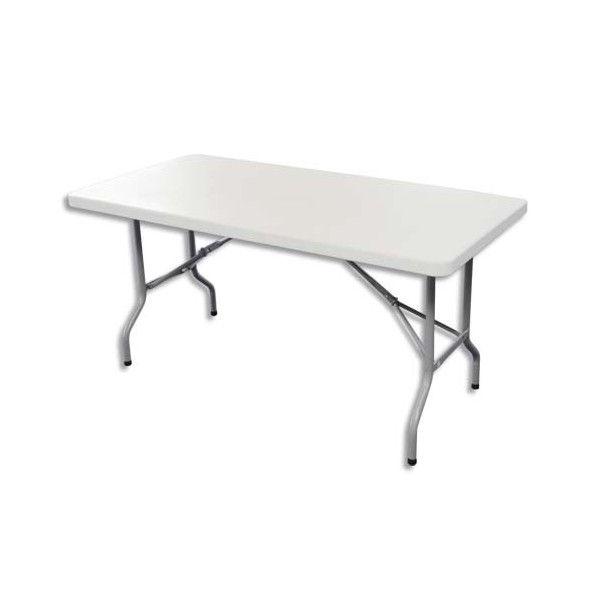 SODEMATUB Table pliante polyéthylène - 122 x 61 x 74 cm (photo)